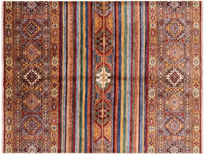 Oriental Tribal Super Kazak Khorjin Design Rug