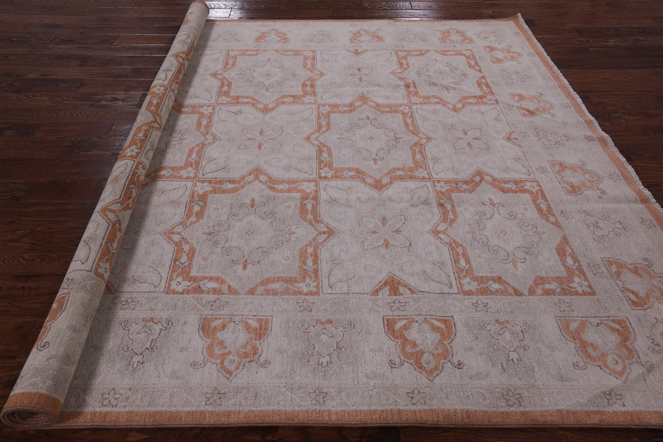 White Wash Persian Hand Knotted Area Rug 8 x 10