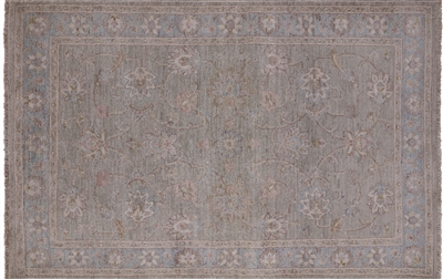White Wash Peshawar Hand Knotted Area Rug