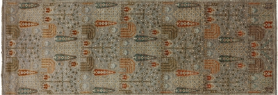 Runner Fine Serapi Hand Knotted Oriental Rug