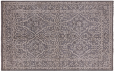 Peshawar White Wash Hand Knotted Wool Area Rug