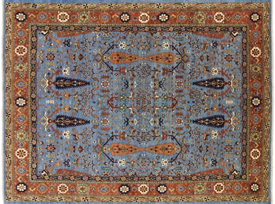 Super Fine Serapi Cypress Tree Hand Knotted Area Rug