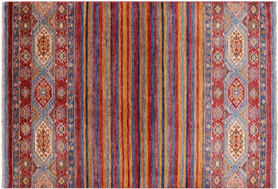 Tribal Super Kazak Oriental Area Rug