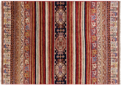 Tribal Super Kazak Area Rug