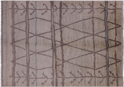 Modern Hand Knotted Moroccan Area Rug