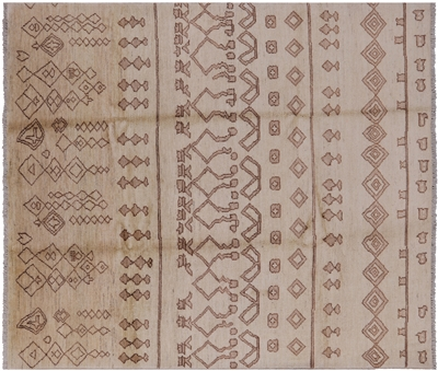 Moroccan Hand Knotted Oriental Area Rug