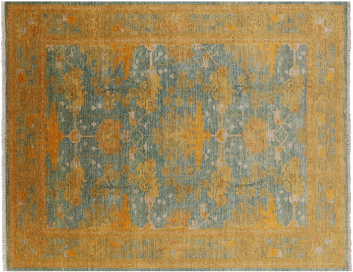 Oriental William Morris Hand Knotted Area Rug