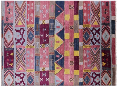 Southwest Navajo Design Hand Knotted Moroccan Area Rug