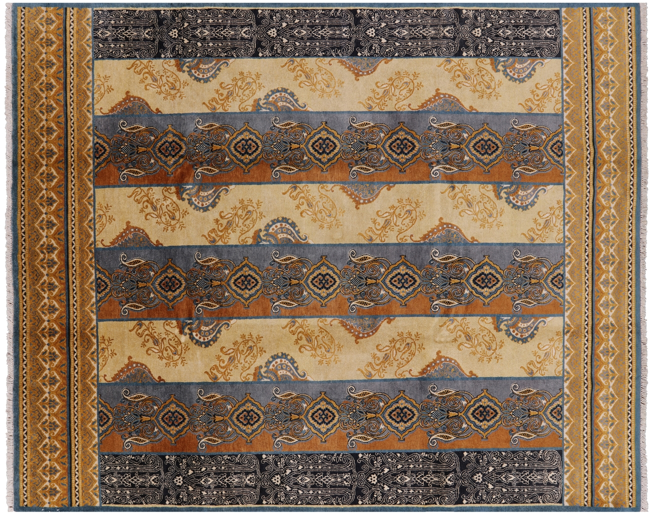 Hand Knotted 8 X 10 Fine Art Deco Area Rug