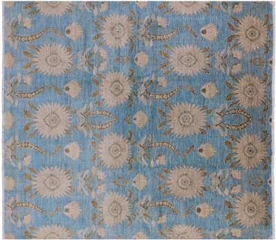 Art Deco Oriental Handmade Sunflower Design Area Rug