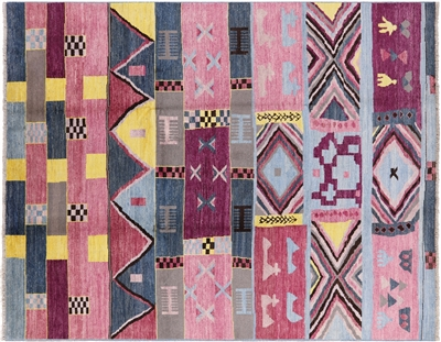 Navajo Hand Knotted Moroccan Area Rug