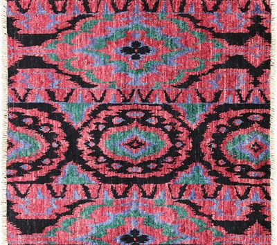 Square Ikat Area Rug