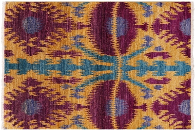 Ikat Hand Knotted Modern Area Rug