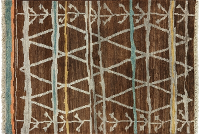 Tribal Hand Knotted Navajo Design Area Rug