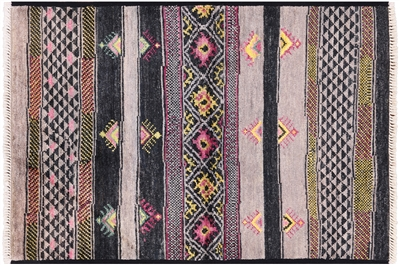 Modern Navajo Design Wool Area Rug