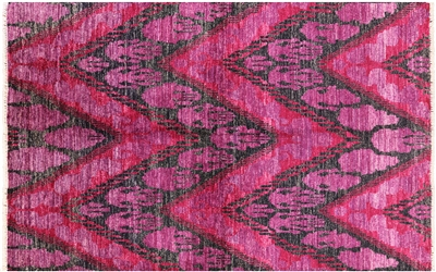 Ikat Hand Knotted Area Rug