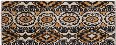 Runner Hand Knotted Ikat Rug