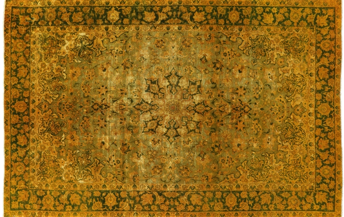Overdyed Persian Hand Knotted Area Rug