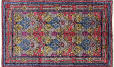 Arts & Crafts Modern William Morris Design Oriental Area Rug