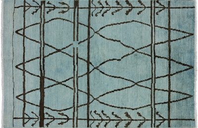 Moroccan Hand Knotted Wool Rug