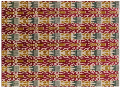 Contemporary Ikat Area Rug