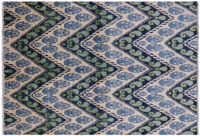 Ikat Hand Knotted Rug