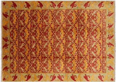 William Morris Design Hand Knotted Area Rug