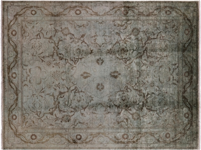 Persian Overdyed Full Pile Wool Area Rug
