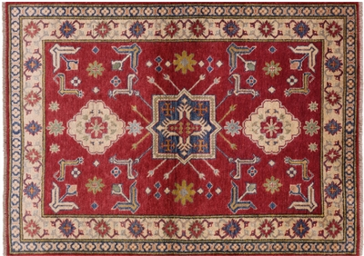 Hand Knotted Kazak Area Rug