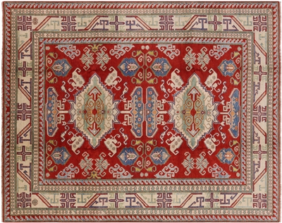 Hand Knotted Kazak Wool Rug