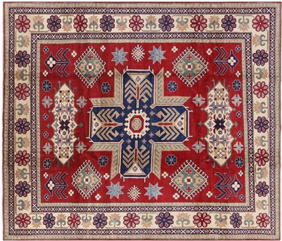 Super Kazak Medallion Design Oriental Area Rug