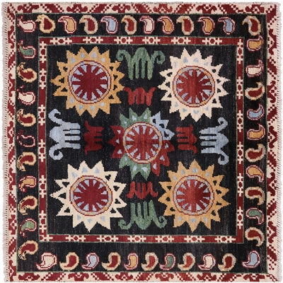 Square Hand Knotted Arts & Crafts Rug