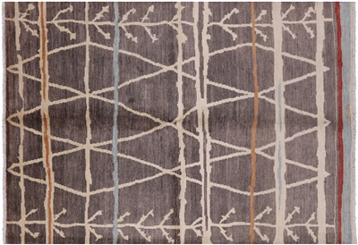 Signed Moroccan Hand Knotted Rug