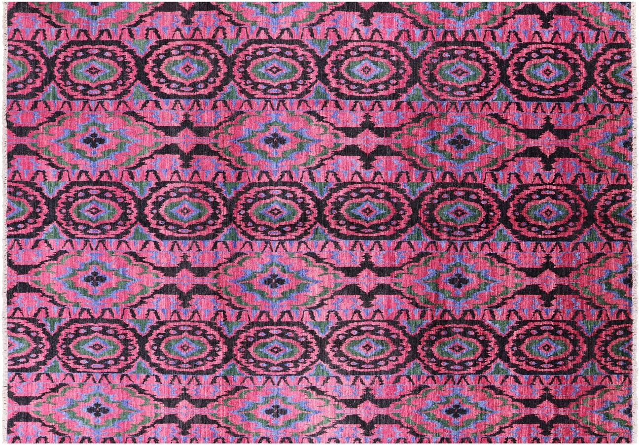 handknotted oriental ikat rug