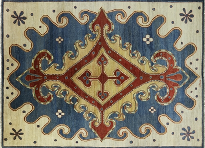 Arts and Crafts Oriental Hand-Knotted Signed Rug