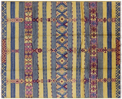 Hand-Knotted Signed Navajo Design Modern Area Rug