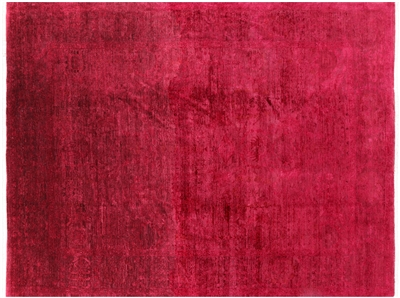 Oriental Wool Full Pile Overdyed Area Rug