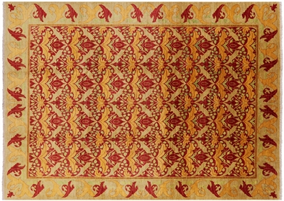 William Morris Design OrientalHand Knotted Rug