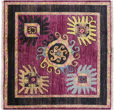 Arts and Crafts Wool Square Rug