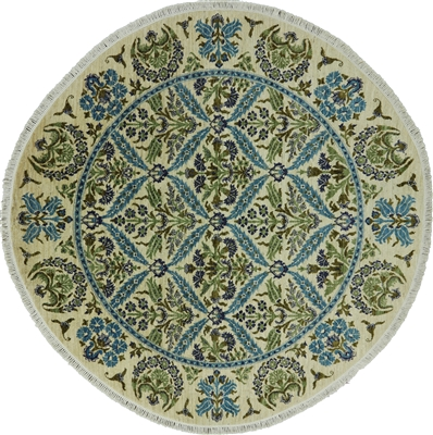 Round Arts and Crafts Oriental Area Rug