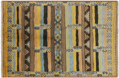Tribal Moroccan Hand Knotted Wool Rug