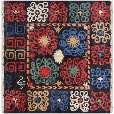Arts and Crafts Square Rug