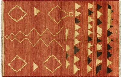 Signed Oriental Moroccan Area Rug