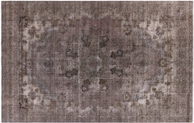 Overdyed Wool Oriental Area Rug