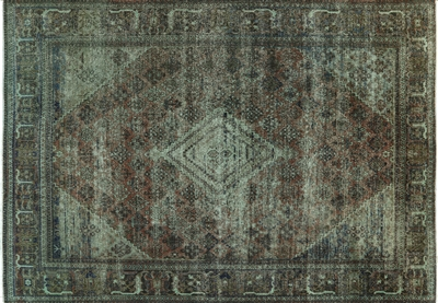 Overdyed Oriental Hand Knotted Rug