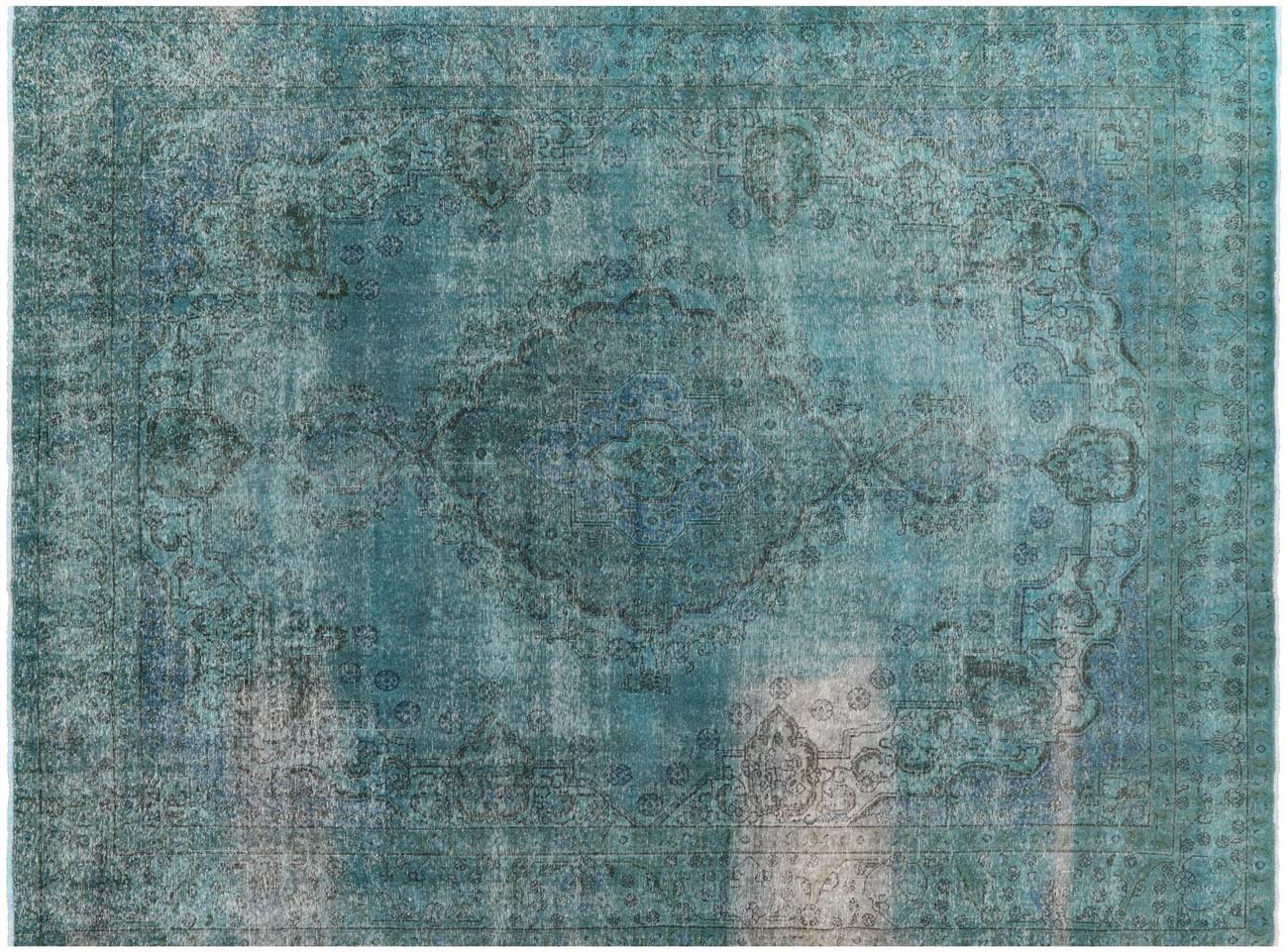 10 X 13 Oriental Tabriz Overdyed Rug