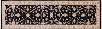 Hand Knotted Wool Runner Peshawar Rug