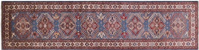 Pair of Super Kazak Runner Rug