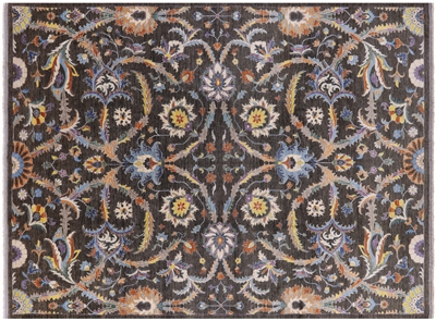 Hand Knotted Wool Fine Serapi Area Rug