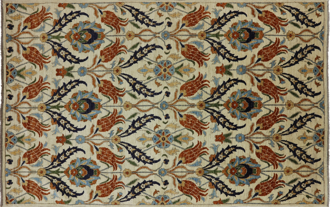 Arts And Crafts William Morris Design Oriental Wool Area Rug 6 X 9